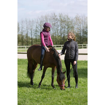 Gilet chaud équitation fille PADDOCK prune
