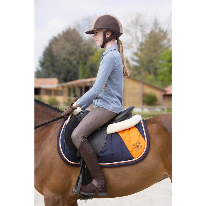 Polo manches longues équitation enfant INDIAN PONEY - 1222689
