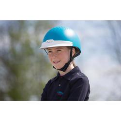 Casque équitation 100 Turquoise