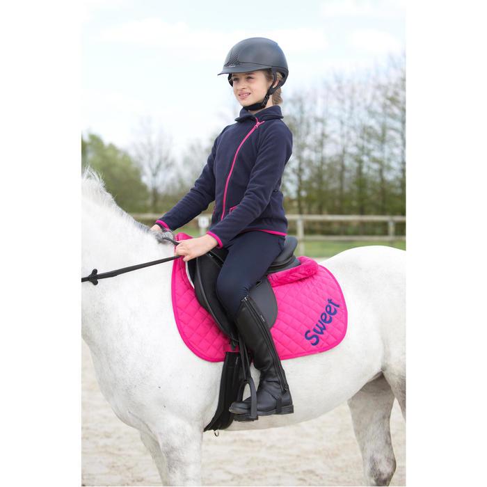 Polaire équitation fille bleu marine