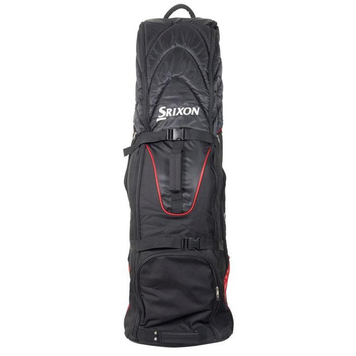 Golf Travelcover mit Rollen für Golftasche schwarz/rot