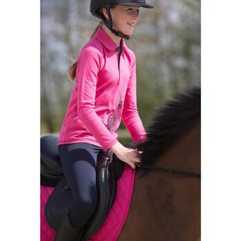 Polo manches longues équitation enfant INDIAN PONEY - 1222775
