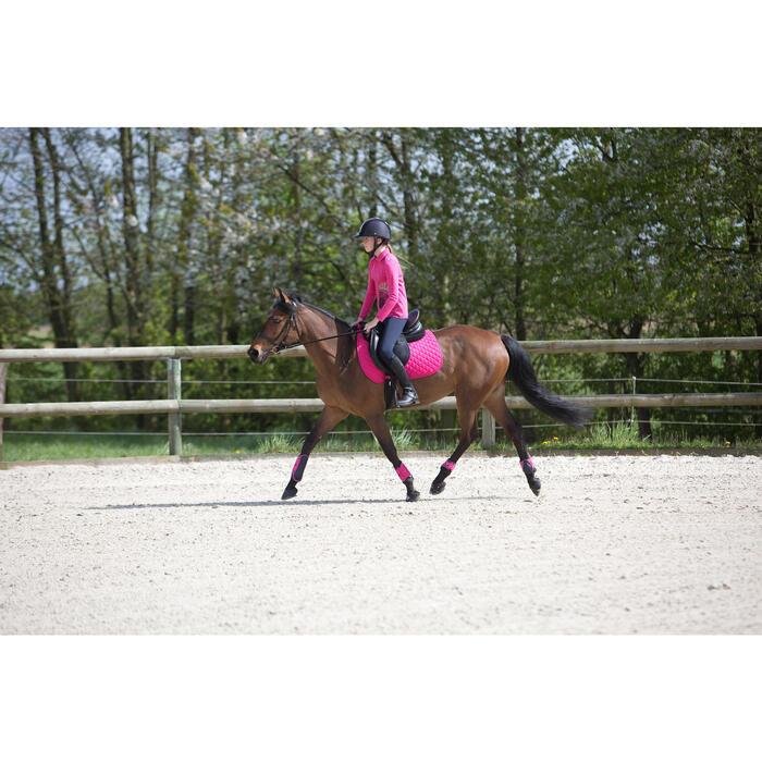 Polo manches longues équitation enfant INDIAN PONEY - 1222779