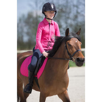 Polo manches longues équitation enfant INDIAN PONEY - 1222782