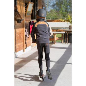 Pantalon chaud équitation enfant ACCESSY fond de peau gris foncé - 1222806