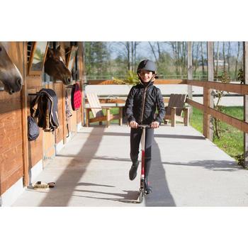 Pantalon chaud équitation enfant ACCESSY fond de peau gris foncé - 1222808
