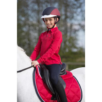 Polo manches longues équitation garçon HORSE - 1222810