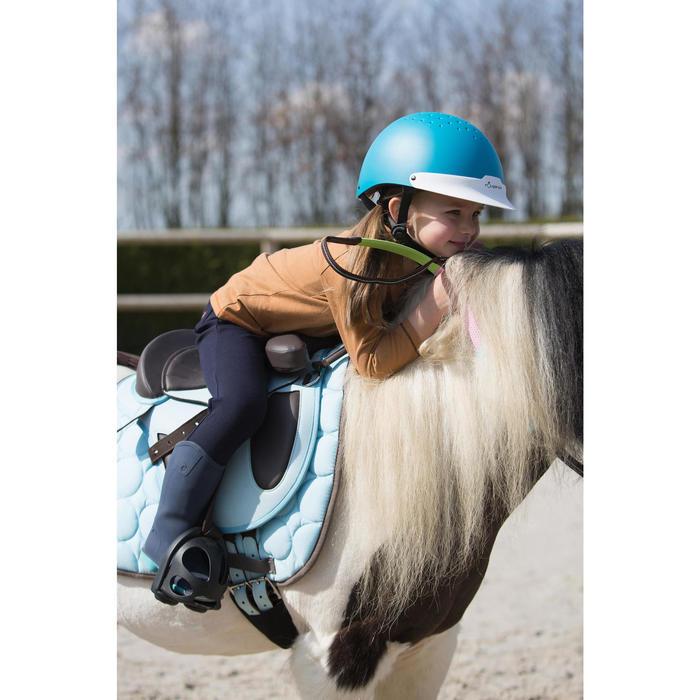 Bottes équitation bébé 100 bleu marine