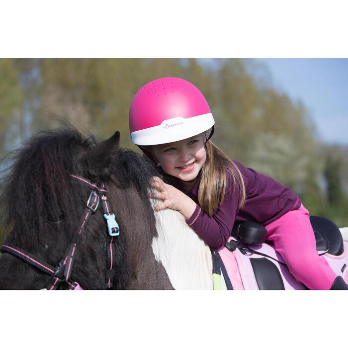 Casque équitation 100 rose