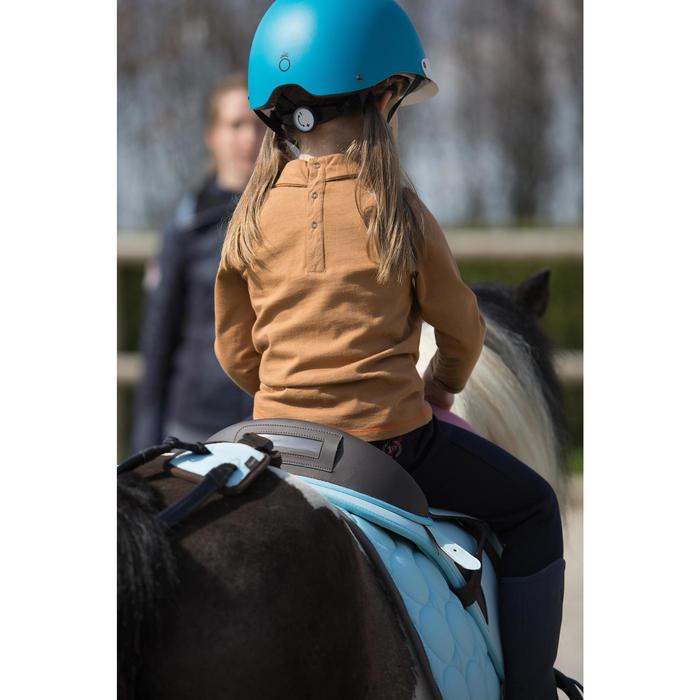 Polo equitación manga larga BEBÉ Camel motivo poni