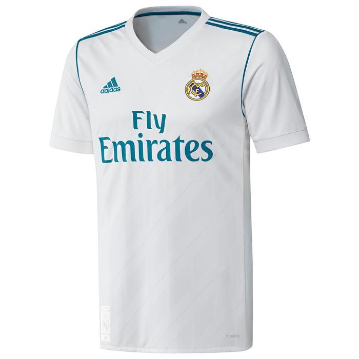 Voetbalshirt replica van het thuismodel van Real Madrid voor kinderen wit