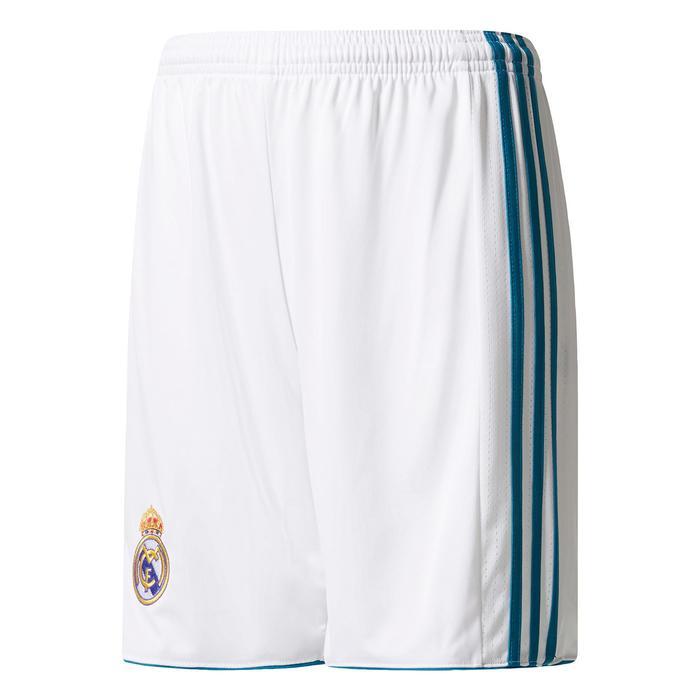 Short réplique de football enfant Real Madrid à domicile blanc - 1222856