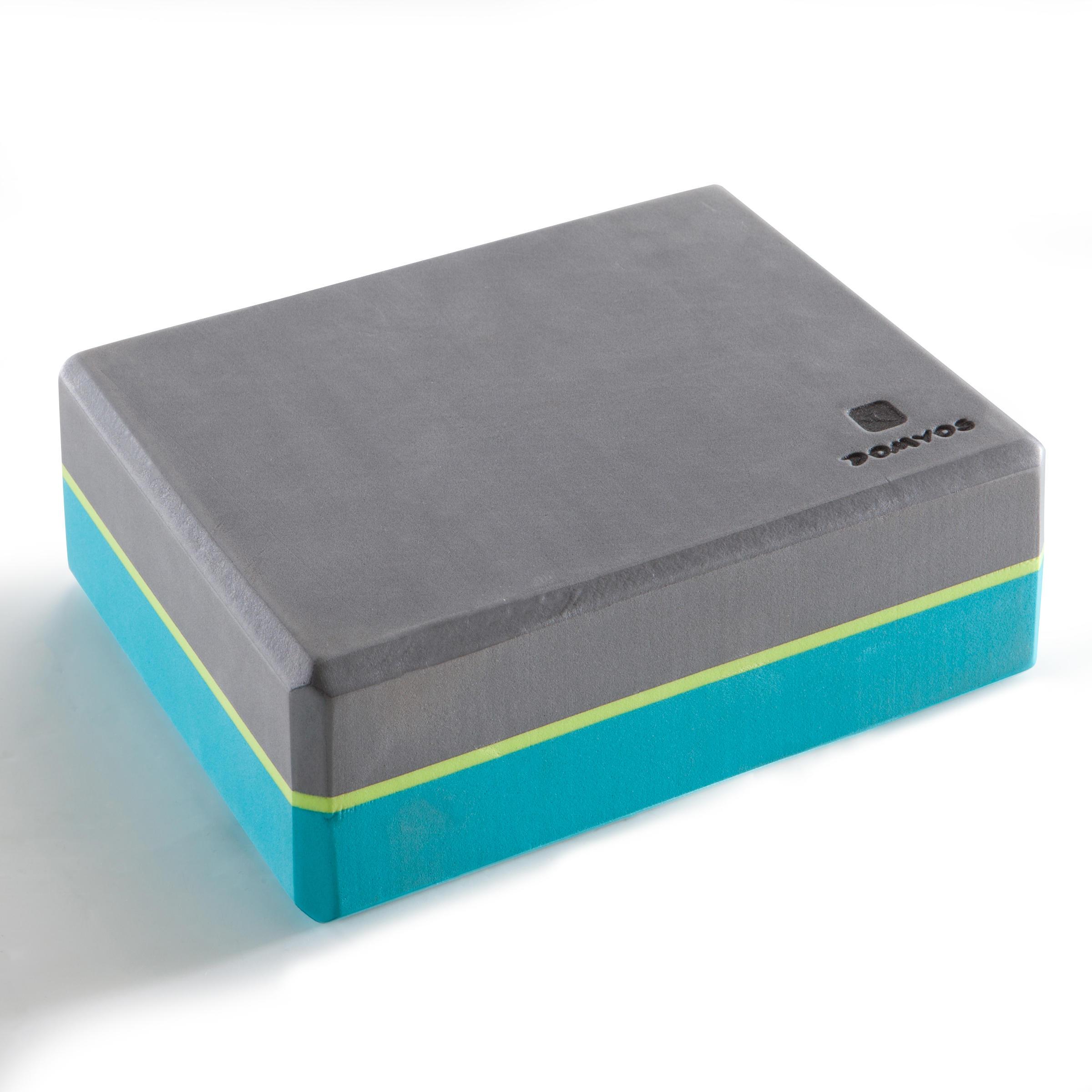 Domyos Schuimrubberen yogablok grijs/blauw