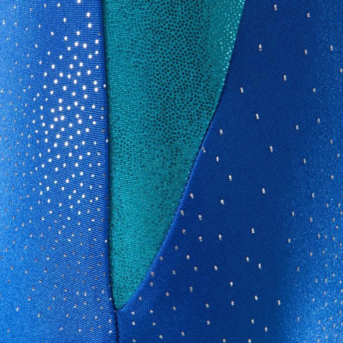 Turnpakje met lange mouwen (toestelturnen) voor dames blauw 520