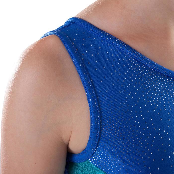 Mouwloos turnpakje (toestelturnen) voor dames blauw 520
