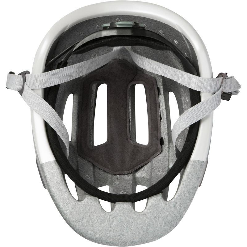 หมวกกันน็อคจักรยานสำหรับปั่นในเมืองรุ่น 500 (สีขาว)