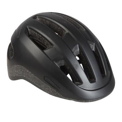 Шолом 500 для катання на міському велосипеді - Чорний