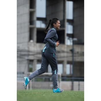 Veste d'entraînement de football femme T500 grise menthe - 1223210