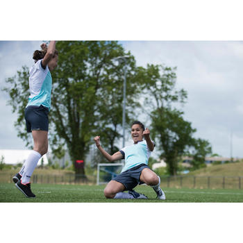 Voetbalshirt dames F500 wit/munt