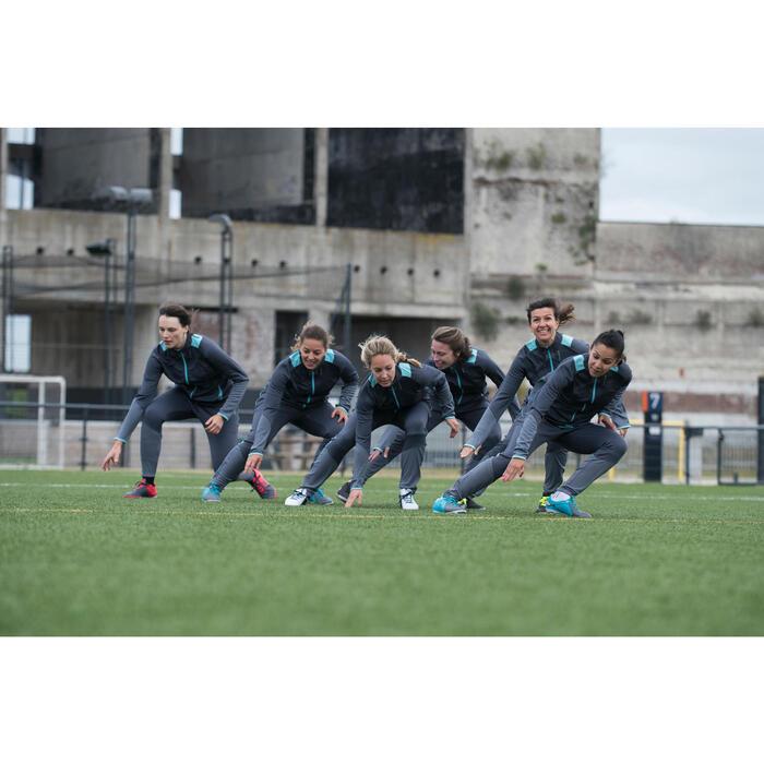 Pantalon d'entraînement de football femme TP500 gris menthe - 1223217