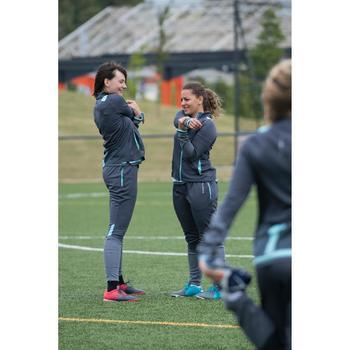 Pantalon d'entraînement de football femme TP500 gris menthe