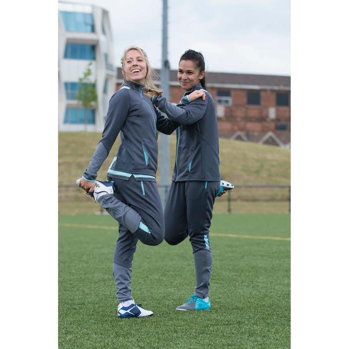 Veste d'entraînement de football femme T500 grise menthe - 1223229