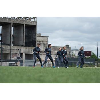 Veste d'entraînement de football femme T500 grise menthe - 1223234