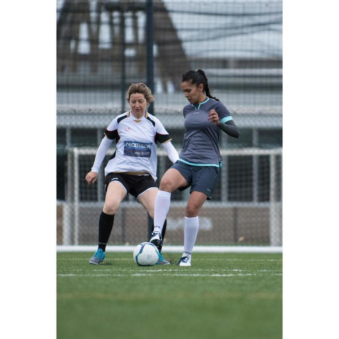 Short de football femme F500 gris menthe - 1223235