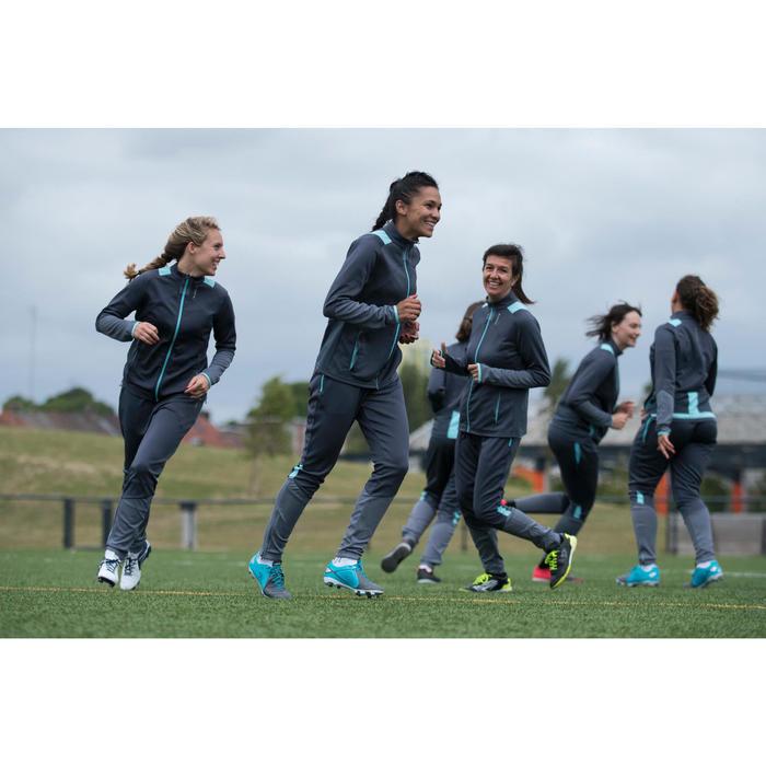 Veste d'entraînement de football femme T500 grise menthe - 1223236