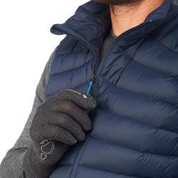 Doudoune sans manche en duvet de trek montagne - TREK 100 bleu marine - homme