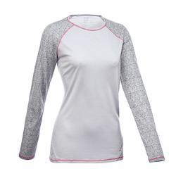 T-shirt met lange mouwen voor bergtrekking Techwool 190 dames