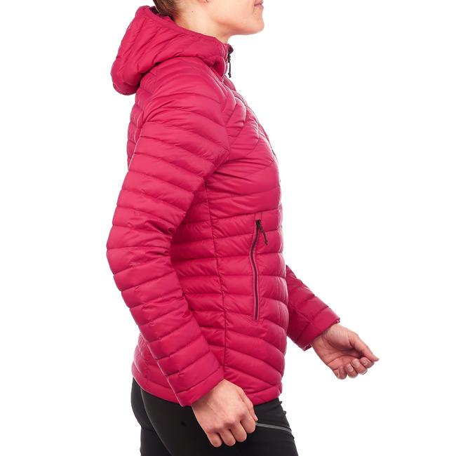 Women's mountain trekking down jacket TREK 100 - PINK