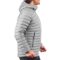 Doudoune de trek montagne - TREK 100 DUVET gris homme