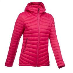 Abrigo Chaqueta Plumón Montaña y Trekking TREK100 Acolchada Mujer Rosa
