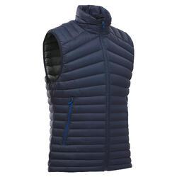 Men's sleeveless mountain trekking Down jacket TREK 100 DOWN - Navy blue