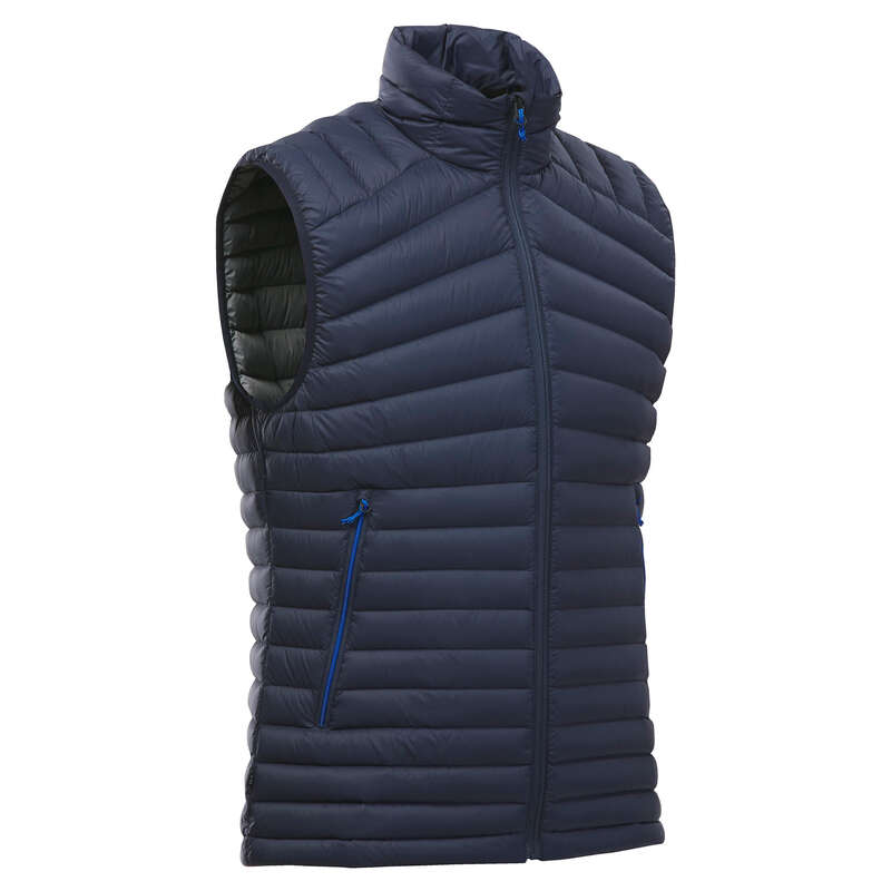 MEN DOWN JACKET, VEST MOUNTAIN TREK Trekking - M DOWN GILET TREK 100 NAVY FORCLAZ - Trekking