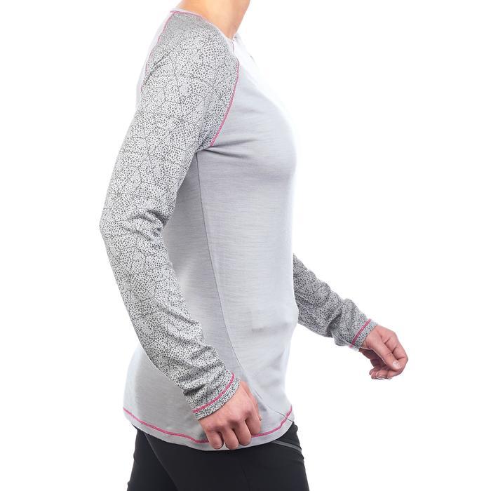 T-Shirt manches longues trekking montagne Techwool 190 femme - 1223392