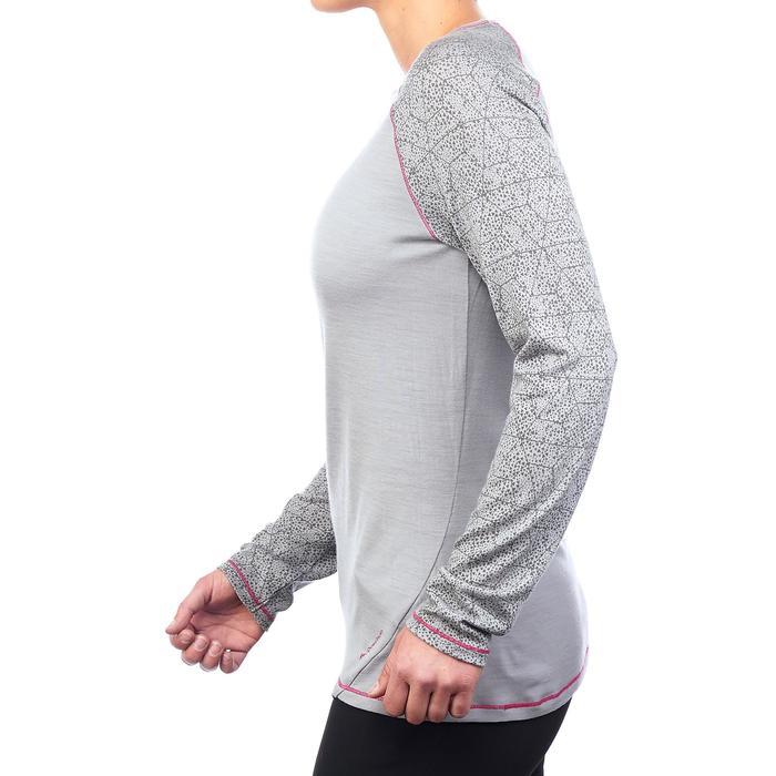 Dames T-shirt met lange mouwen voor bergtrekking Techwool 190 - 1223397