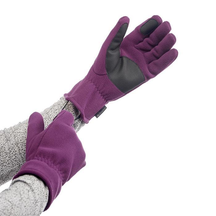 Handschuhe Trek 500 Fleece Erwachsene violett