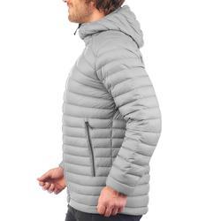 男款登山健行羽絨外套TREK 100-灰色