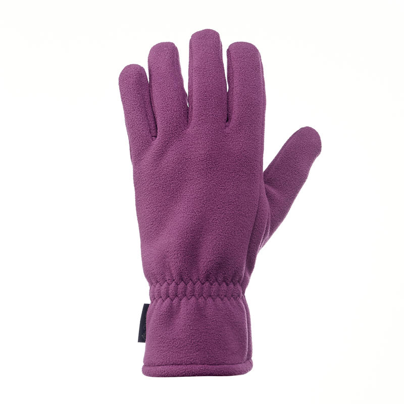 Trek 500 Adult Fleece Mountain Trekking Gloves - Purple