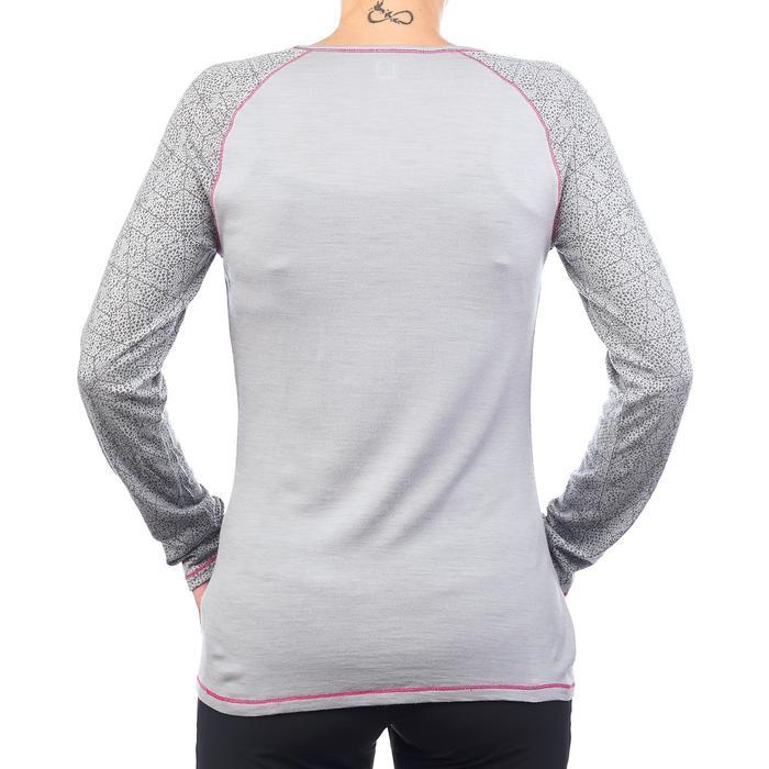 Dames T-shirt met lange mouwen voor bergtrekking Techwool 190 - 1223426