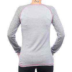 Merino shirt met lange mouwen voor bergtrekking dames Techwool 190 grijs