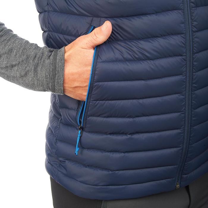 Dons bodywarmer voor bergtrekking Trek 500 heren marineblauw