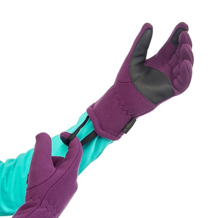 Fleece kinderhandschoenen voor wandelen SH100 warm paars