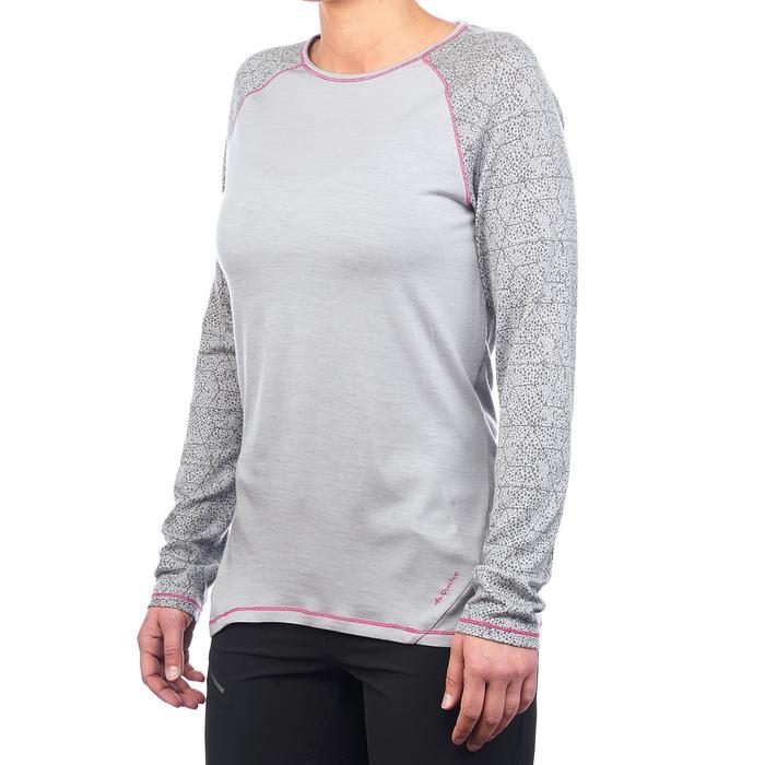 Dames T-shirt met lange mouwen voor bergtrekking Techwool 190 - 1223442