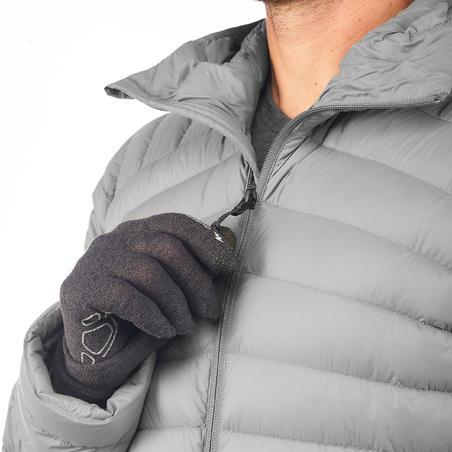 Doudoune randonnée montagne RANDO 100 Duvet homme gris