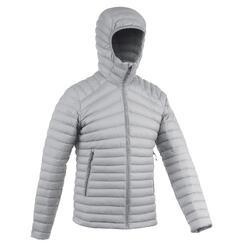 Doudoune en duvet de trek montagne - confort -5°C - TREK 100 gris - homme