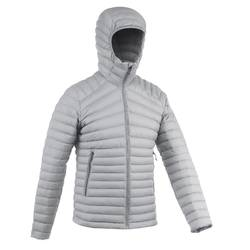 Men's Mountain trekking down jacket | TREK 100 DOWN - Grey