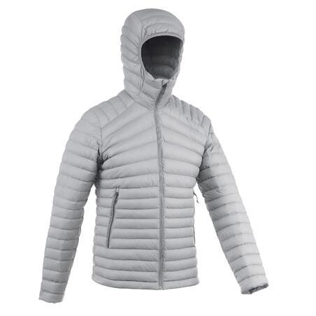 Men's Mountain Trekking Down Jacket - Temp Rating -5°C - Trek 100 - grey